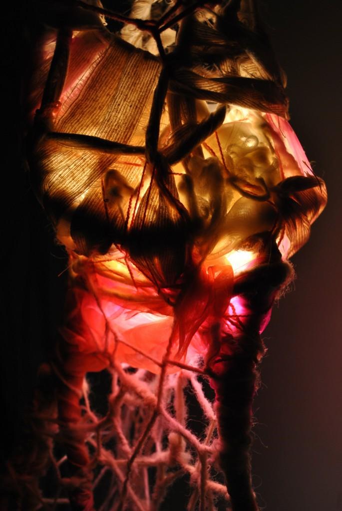 work in process- light sculpture PINK- detail