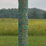 Column-mustard & blue (outdoors)
