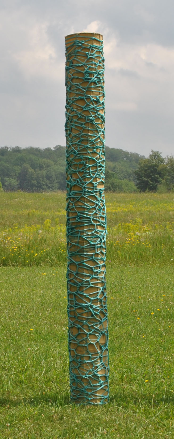 Mustard & Turquoise Light Column (unlit)