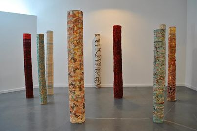 Forest of Columns Installation (Roots Entwined; Durham Art Gallery, 2014)