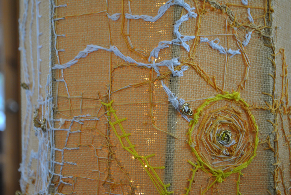 yellow embroidered column (detail)