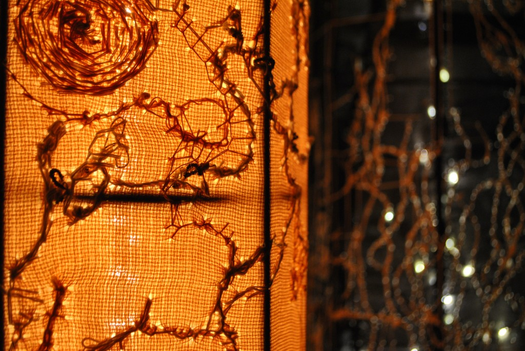 Honey Light Column alight