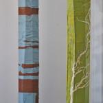 light columns for the Glenerin Inn, Wild Threads installation